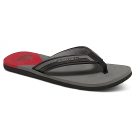 Tongs Quiksilver Molokai New Wav Black/Red/Grey