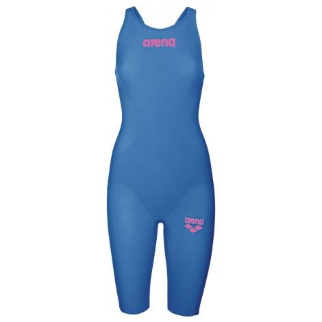 ARENA R-EVO One - Blue Powder Pink - Dos Ouvert - Combinaison Natation Femme