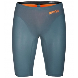 ARENA R-EVO One Homme Powerskin - Grey Bright Orange - Jammer natation