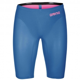 ARENA R-EVO One Homme Powerskin - Blue Powder Pink - Jammer natation