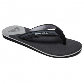 Tongs Quiksilver - Molokai New Wave Deluxe Grey Black XSKS