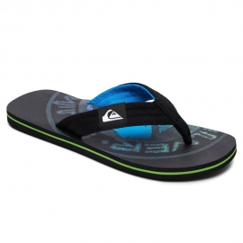 Tongs Quiksilver - Molokai Layback Black/Grey/Black XKSK