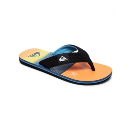 Tongs Quiksilver - Molokai Layback Black/orange/blue XKNB