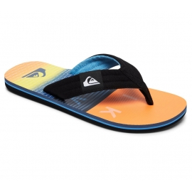 Tongs Quiksilver - Molokai Layback - Black Orange Blue - XKNB
