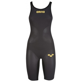 ARENA Carbon Air Open Dark Grey Black- Combinaison Natation Femme - Dos Ouvert