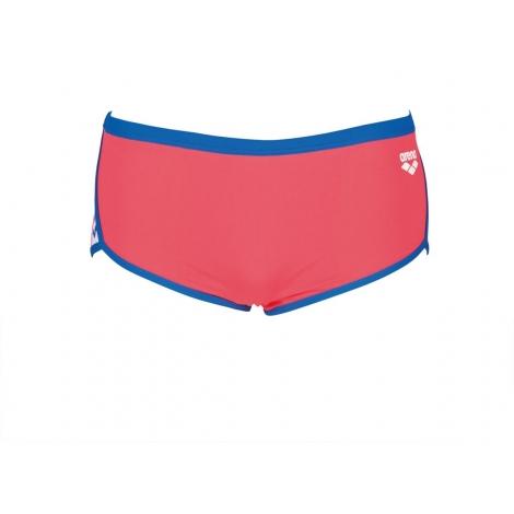 Arena Team Stripe - Low Waist Short - Fluo Red Royal - Boxer Natation Homme