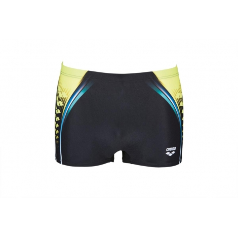 f23c044df8 ARENA One Placed Print Short - Black Soft Green - Boxer Natation ...