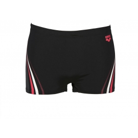 ARENA One Serigraphy Short - Black Fluo Red - Boxer Natation