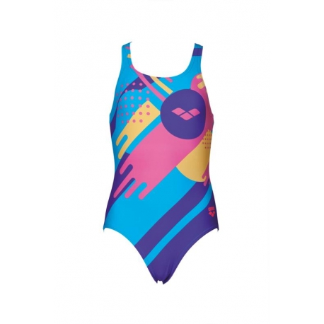 Arena PLAY&FUN JR ONE PIECE SWIM PRO BACK L TURQUOISE-APHRODITE - Maillot Fille Natation