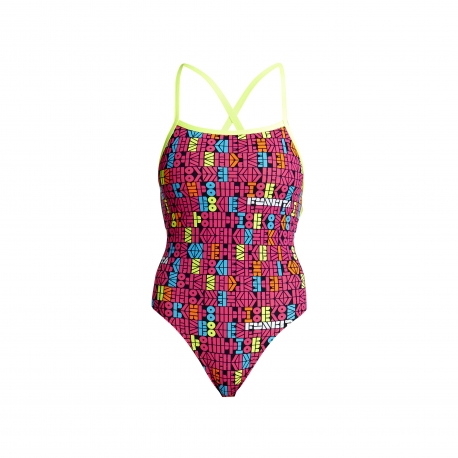Funkita Code Breaker - Strapped In - Off the Wall Collection - Maillot Femme Natation