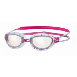 ZOGGS Predator Woman Silver Clear Pink - Lunettes Natation & Triathlon