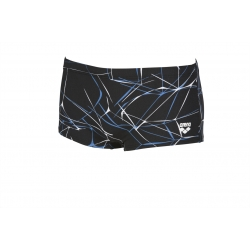 ARENA WATER Low waist Short - Black Grey - Boxer Natation Homme