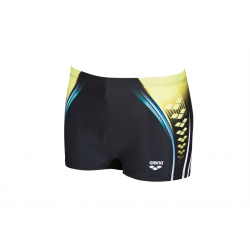 ONE PLACED PRINT Short - Black soft green - Aquashort Natation Homme