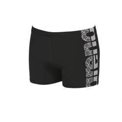 ARENA EQUILIBRIUM SHORT BLACK-WHITE - Aquashort Natation Homme