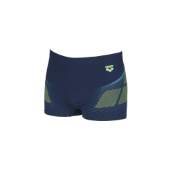 ARENA ONE POSEIDON SHORT NAVY-SHINY GREEN - Aquashort Natation Homme