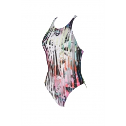 ARENA ONE RIVIERA ONE PIECE BLACK-MULTI - Maillot Natation Femme 1 piece