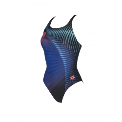 ARENA ONE ARES ONE PIECE BLACK-MULTI - Maillot Natation Femme 1 piece