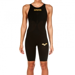 ARENA Carbon Air² 2 - Black Gold - Dos Ouvert - Combinaison Natation Femme