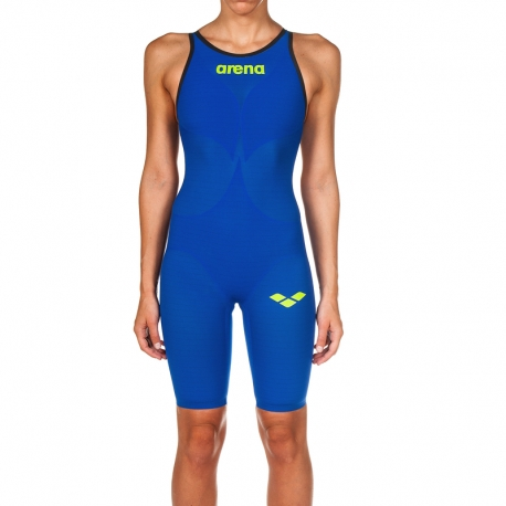 ARENA Powerskin Carbon Air² 2 Femme Electric Blue Dos Ouvert Combinaison Natation