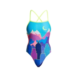 FUNKITA Metropolis - Strapped in - Maillot Femme Natation