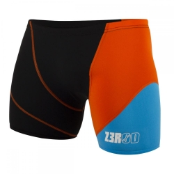 ZEROD Swim BOXER BLACK/ATOLL/ORANGE - Aquashort boxer Natation Homme