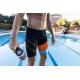 ZEROD Swim JAMMER BLACK/ATOLL/ORANGE - Jammer Natation Homme