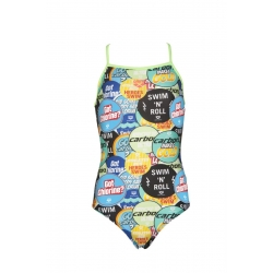 Arena Watchword Light Drop - Shiny Green - Maillot Fille Natation