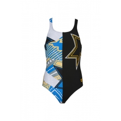 Arena Watchword Lightshow Swim Pro - Black Multi- Maillot Fille Natation
