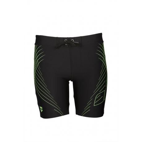 7a96c9047e ARENA JAVA Mid Jammer - Black shiny green - Jammer Natation Homme ...
