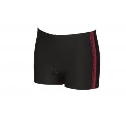 ARENA JOINY Short - Black Red - Boxer Natation Homme