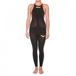 ARENA Powerskin Femme Open Water R-Evo+ Full Body - Closed Back ( Dos Fermé ) - Black Fluo Yellow