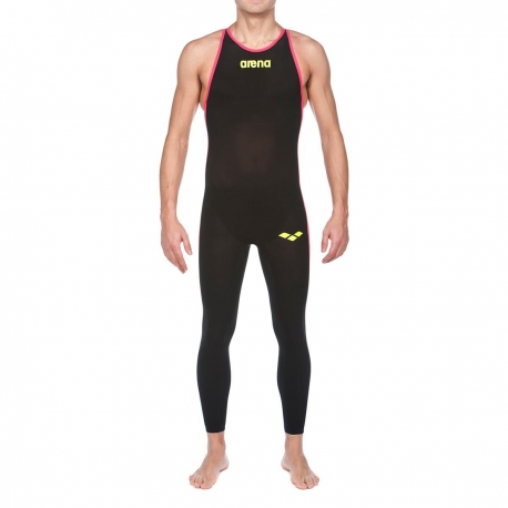 ARENA Powerskin Homme Open Water R-Evo + Full Body - Closed - Black Fluo Yellow