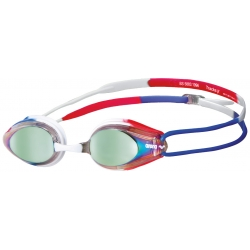 Arena TRACKS MIRROR Gold Blue Red - Lunettes Natation