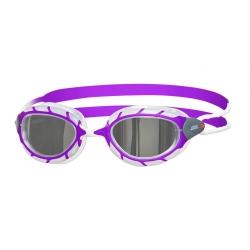 Zoggs Predator Junior Mirror - Purple White Mirror - Lunettes Natation Enfant ( 6 à 14 ans)