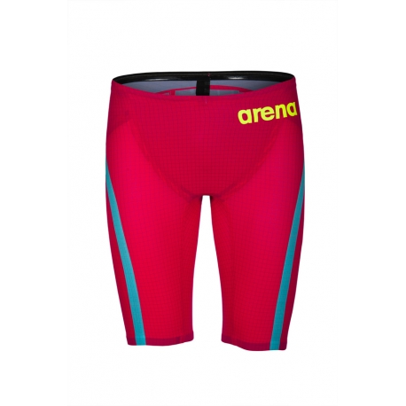 ARENA PowerSkin CARBON FLEX VX - Bright Red Turquoise - Jammer Homme Natation