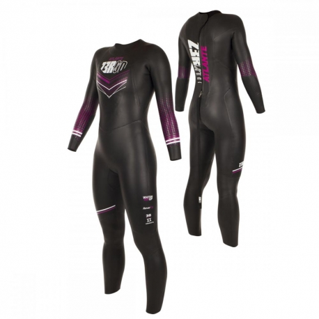 Combinaison Triathlon Femme ZEROD ATLANTE WOMAN - BLACK/FUCHSIA - New 2019
