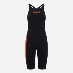 JAKED J KEEL Black Orange - Dos Fermé / Close Back - Combinaison Natation Femme Compétition
