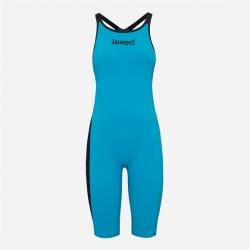 JAKED J KEEL Turquoise Black - Dos Ouvert / Open Back - Combinaison Femme Natation Compétition