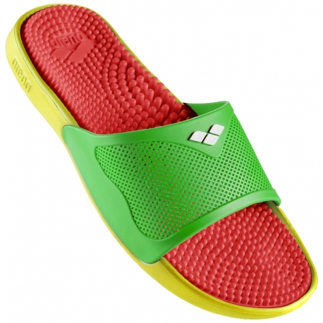 Claquettes Arena MARCO X GRIP BOX HOOK - Solid Red Green Yellow