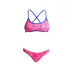FUNKITA Rock Salt - Cross Back Tie Bikini Top & Hipster Birief - Maillot 2 pieces Femme Natation