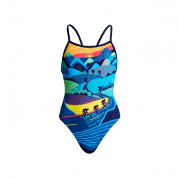 FUNKITA Fille - Alez Allez - Single Strap - Maillot Junior Natation