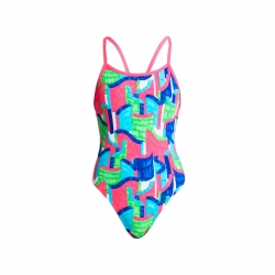 FUNKITA Fille - Texta Tower - Single Strap - Maillot Junior Natation