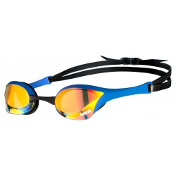ARENA Cobra Ultra Swipe Mirror - Yellow Copper Blue - Lunette Natation Bleu Verres Jaune
