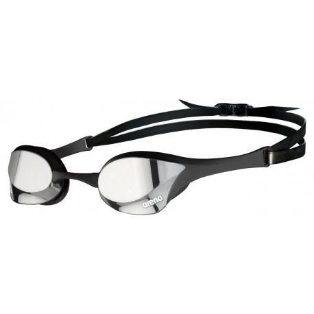 ARENA Cobra Ultra Swipe Mirror - Silver Black - Lunette Natation Noir Verres Argent
