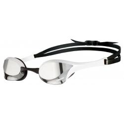 ARENA Cobra Ultra Swipe Mirror - Silver White - Lunette Natation Blanche Verres Argent
