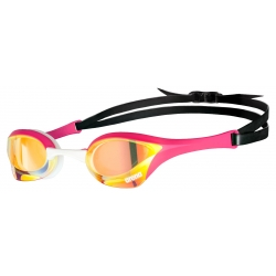 ARENA Cobra Ultra Swipe Mirror - Yellow Copper Pink - Lunette Natation Rose et Blanche