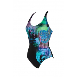 Arena Bodylift FRANCESCA Criss Cross Back - Black Black - Maillot Piscine & Aquagym