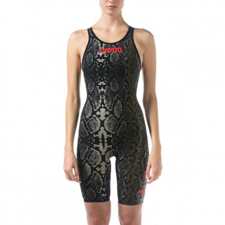 ARENA Powerskin Carbon Air 2 Ltd Edition Python Femme - Black Python - Dos Ouvert - Combinaison Natation Noir