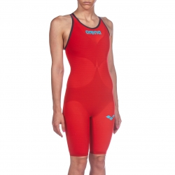 ARENA Powerskin Carbon Air² 2 Femme - Red - Dos Ouvert - Combinaison Natation