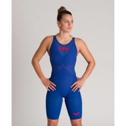ARENA Carbon Glide Powerskin Dos ouvert - Ocean Blue - Combinaison Natation Femme